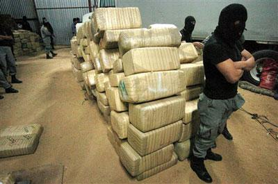 Cartel thugs transporting Cannabis
