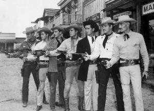 Immagine di sceriffi di nuovo nel selvaggio west.